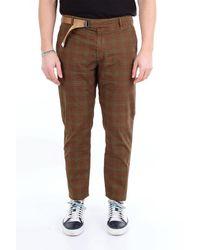 Whitesand 88 Pantalon gregory à motif sable blanc 88 avec ceinture - Marron