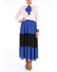 Shirtaporter Robes long - Bleu