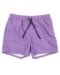 Drumohr Traje de baño pantalones cortos mar - Morado