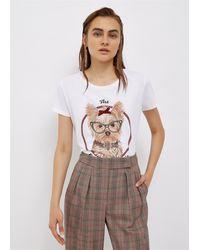 Liu Jo T-shirt con stampa pet e applicazioni - Blanc