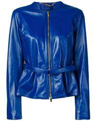 Blugirl Blumarine Vestes en cuir - Bleu