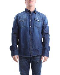 UNIFORM Camisa de mezclilla oscura e - Azul