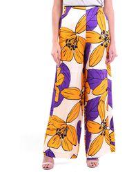 Jucca Pantalon classique à motifs bicolores - Multicolore