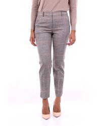Peserico Pantalones con estampado clásico - Gris