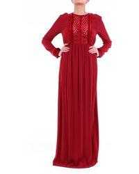 Pinko Robes long - Rouge
