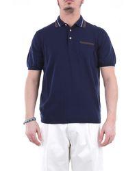 Heritage Polo à manches courtes en - Bleu