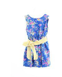 Ralph Lauren Vestido corto de fantasía azul