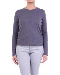 J Brand T-shirt à manches longues de couleur gris foncé - Violet