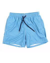 Drumohr Traje de baño pantalones cortos mar - Azul