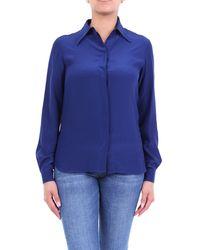 M Missoni Blusa azul con cierre frontal