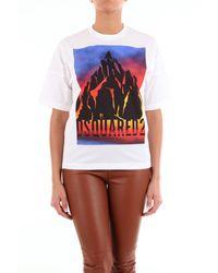 DSquared² T-shirt blanc à manches courtes