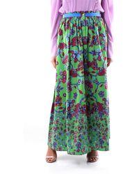 Givenchy Falda larga verde estampada de