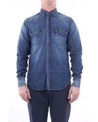 Saint Laurent Chemise jean bleu