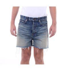 Saint Laurent - Pantalones cortos bermudas - Lyst