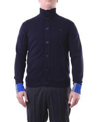 Sun68 Cardigan di colore blu navy