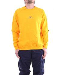 Diadora Felpa girocollo di colore giallo