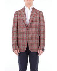 Tagliatore Prince of wales chaqueta cruzada - Multicolor