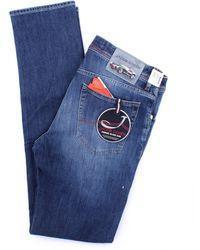 Jacob Cohen - Vaqueros modelo 688 azul - Lyst