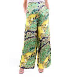 Jucca Pantalon à motifs vert et jaune