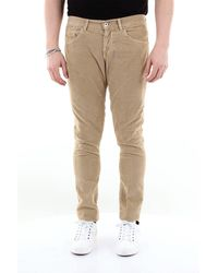 Dondup Jean george skinny fit 5 poches en velours côtelé - Neutre