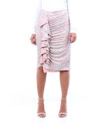 Isabelle Blanche - Minigonna bi-colore con paillettes - Lyst