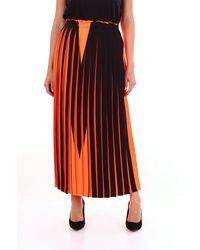 MM6 by Maison Martin Margiela Jupe longue bicolore - Orange