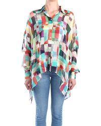 Erika Cavallini Semi Couture P9pi04 blusa multicolor