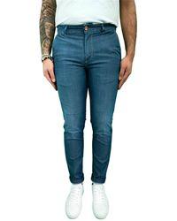 Camouflage AR and J. Jeans slim uomo a520 - Bleu