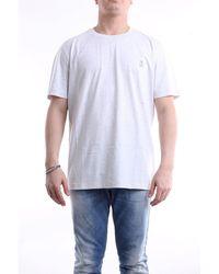 Brunello Cucinelli Brunello cuccinelli t-shirt mit kurzen ärmeln in hellgrauer farbe - Weiß