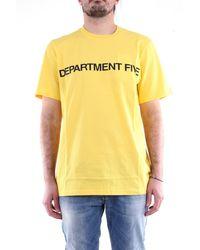 Department 5 T-shirt con maniche corte di colore giallo