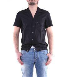 LOWBRAND Camisa de manga corta en - Negro