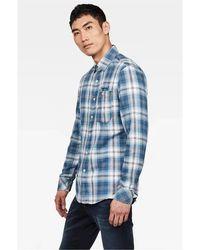 G-Star RAW Camicia check, regular fit, con tasca anteriore, 100% cotone - Bleu