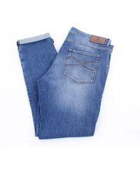 Brunello Cucinelli Brunello cuccinelli blaue jeans 5 taschen
