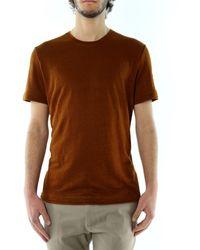 Paolo Pecora T-shirt mattone - Marrón