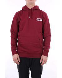 PALETTE COLORFUL GOODS Palette buntes burgunderfarbenes sweatshirt der waren - Rot