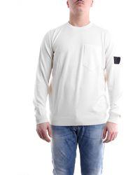 Stone Island Jersey de cuello redondo en color - Blanco