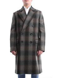 Dries Van Noten Cappotto di colore verdone e grigio