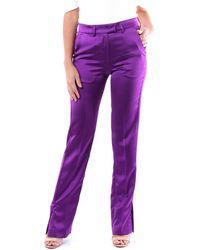 MSGM Pantalon classics - Violet