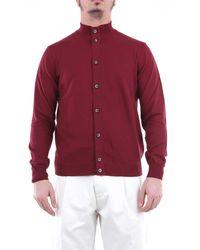 Heritage Camisa de manga larga burdeos - Rojo