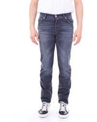 Kiton Trousse jeans - Bleu