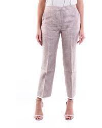 Fabiana Filippi Pantalon chino bicolore à rayures - Multicolore