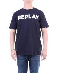 Replay T-shirt con maniche corte di colore blu