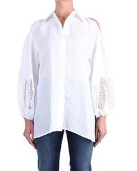 Beatrice B. Beatrice b 921fe4749607922 camicia con omeri scoperti - Blanco