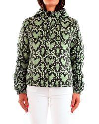 Love Moschino Wh745 00 t005a piumino con stampa cuori pitonati all over - Verde