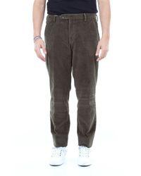 Michael Coal Pantalon brad en velours côtelé - Gris