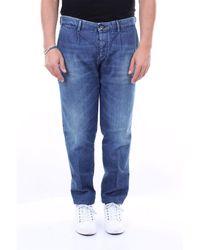 Care Label Jean pocket america en coton stretch - Bleu