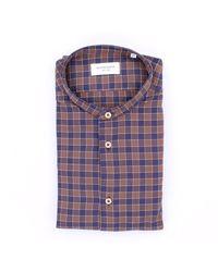 MASTRICAMICIAI Camisa de algodón a cuadros slim fit - Multicolor