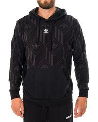 adidas Felpa hoodie monogram v gd5840 - Nero