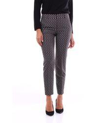 PT Torino Pantalon chino noir à motifs