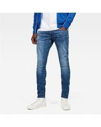 G-Star RAW Vestibilità skinny in stretch denim, vita regolare, zip fly - Blu